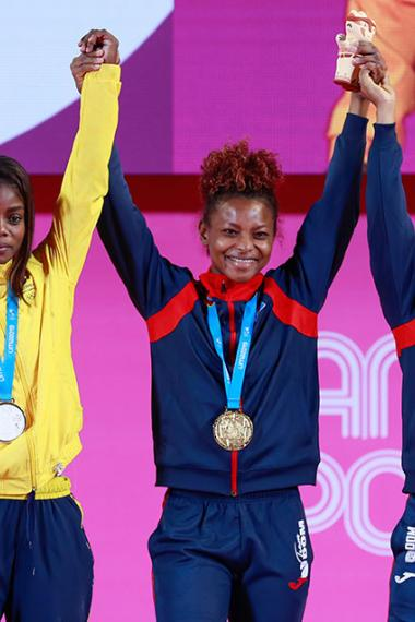 Women's weightlifting winners
