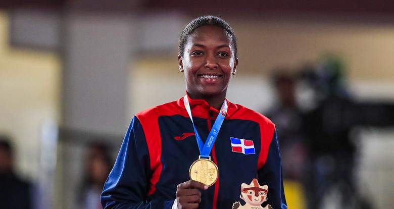Pamela Rodríguez from the Dominican Republic wins gold medal in karate