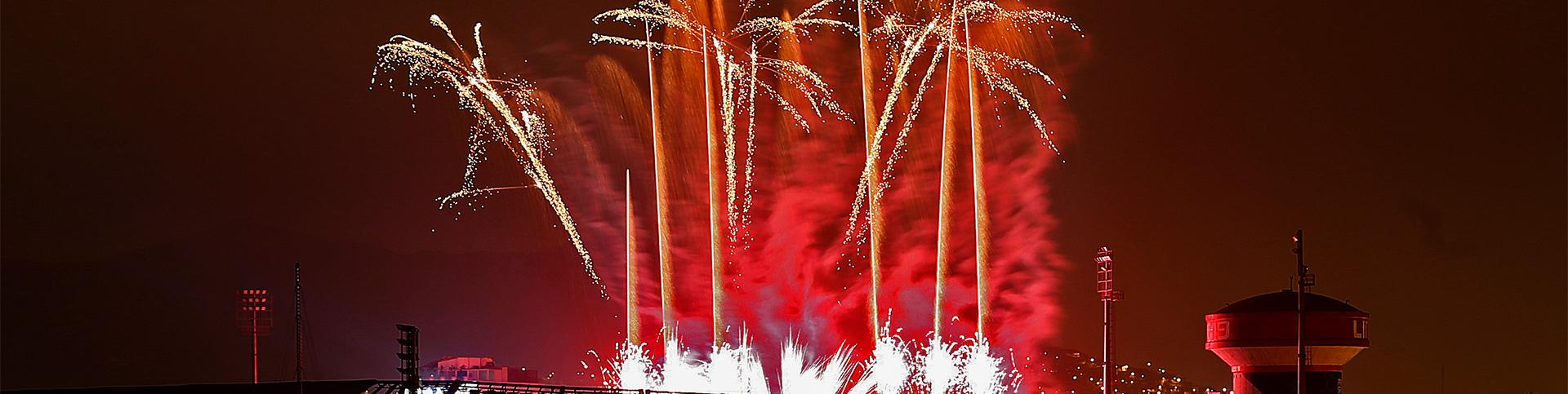 Fireworks on the Parapan American Games Closing Ceremony