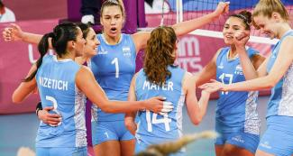 Argentina beat Brazil. Lucía Fresco scored 26 points in the women's volleyball competition at the Callao Regional Sports Village