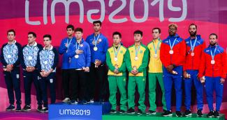 Argentina, USA, Brazil and Puerto Rico men's teams reach the podium