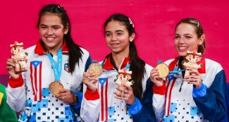 Puerto Rican athletes made it to the podium at the Lima 2019 table tennis competition held at the National Sports Village – VIDENA.