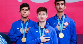 Table tennis men's team from USA wins gold at Lima 2019 at the National Sports Village – VIDENA